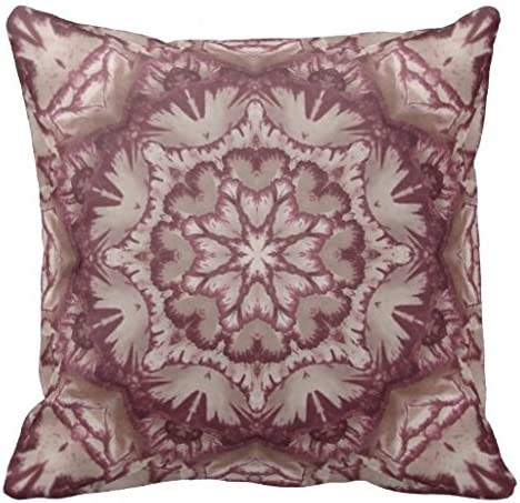 Muted Plum And Ivory Victorian Floral Throw Pillow Case Home Kitchen