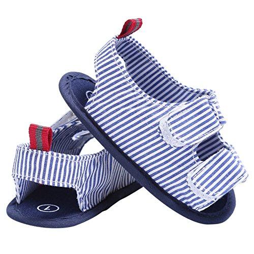 BOBORA Bebe Ninos Sandalias Casuales Franja De Lona Zapatos De Verano azul