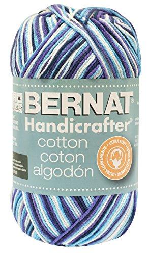 Bernat Handicrafter Cotton Yarn (Bernat Handicrafter Cotton Yarn, Ombre, 12 Ounce, Moondance)