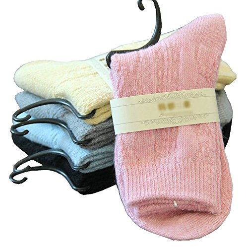 Cashmere Blend Socks - 5 Pairs Women's Soft Comfortable Winter Warm Wool Cashmere Socks
