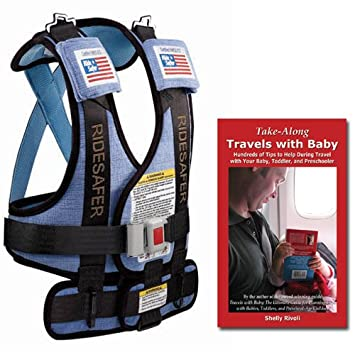 Bundle Small Blue RideSafer Travel Vest New 2012 Model With Take