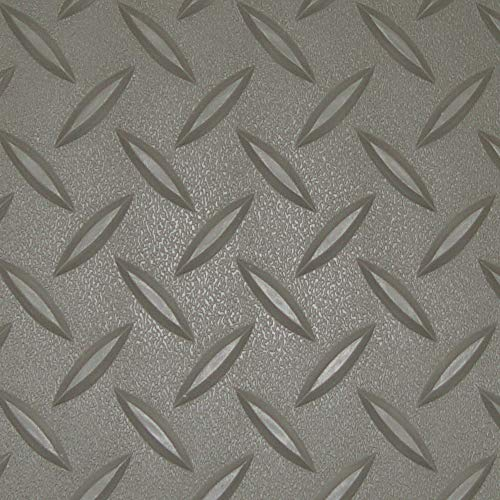 RoughTex Diamond Deck 85724 Pewter Textured Roll Out Garage Floor Mat, Various Sizes Available by Diamond Deck (Image #2)