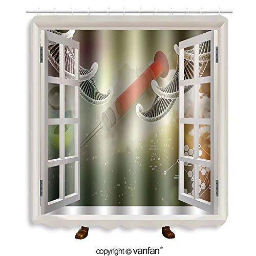 Quick Clean Standard Syringe (Vanfan designed Windows 257703691 syringe and medicine Shower Curtains,Waterproof Mildew-Resistant Fabric Shower Curtain For Bathroom Decoration Decor With Shower Hooks)
