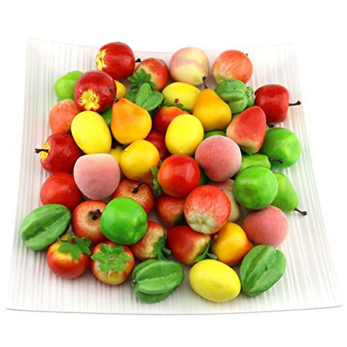 - Gresorth Fake Mini Fruit Apple Pear Tomato Peach Lemon Strawberry Artificial Food Kitchen Toy Home Party Decoration