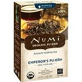 Numi Organic Tea Emperor's Pu-erh, Full Leaf Black Pu-erh Tea, 16 Count non-GMO Tea Bags