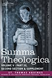 Image of Summa Theologica, Volume 5 (Part III, Second Section & Supplement) (Cosimo Classics)