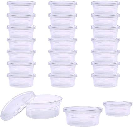 Bblie Lot de 6 petites bo/îtes de rangement en plastique transparent avec couvercle