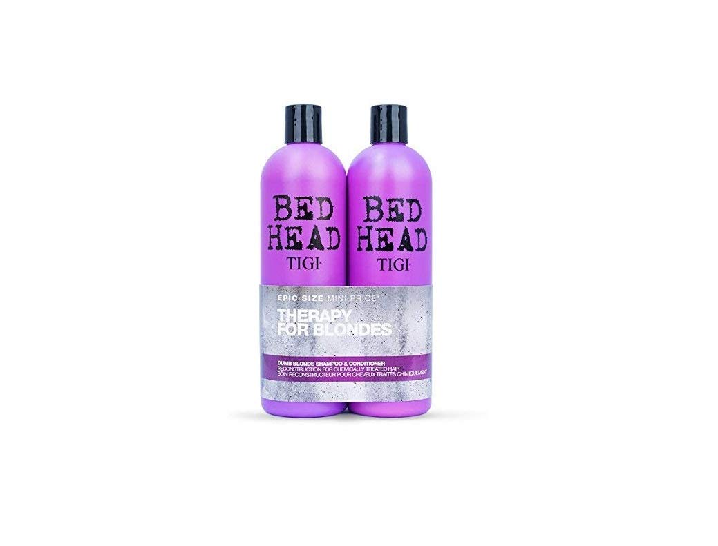TIGI Bed Head Dumb Blonde Shampoo and Conditioner 750 ml - Pack of 2