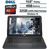 Notebook Dell Inpirion 4gb 32gb SSD Windows 10 Tela 11.6'' Amd A6 Bluetooth - Cinza