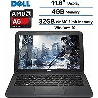 2018 Dell Inspiron Flagship High Performance Laptop, AMD A6-9220e processor 2.5GHz, 11.6 HD Display, 4GB DDR4 SDRAM, 32GB eMMC Flash Memory, Windows 10 (Gray) w/1-year Microsoft Office 365 Personal