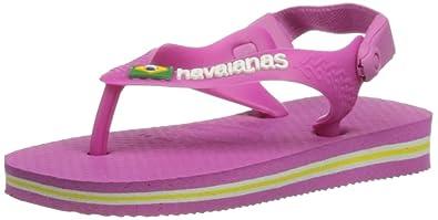 fd0952381c7967 Havaianas Unisex-Baby Baby Brasil Logo Flip Flops Light Pink 4 Child UK (20