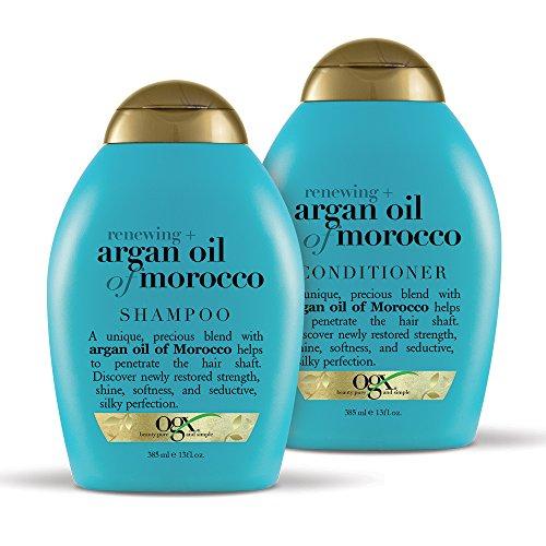 OGX Renewing + Argan Oil of Morocco Shampoo & Conditioner Set, 13 Ounce