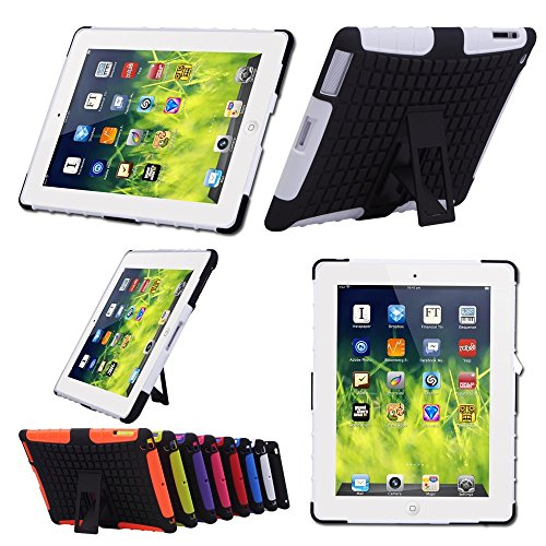 TKOOFN Shockproof Case With Stand For Apple iPad Mini White - 4