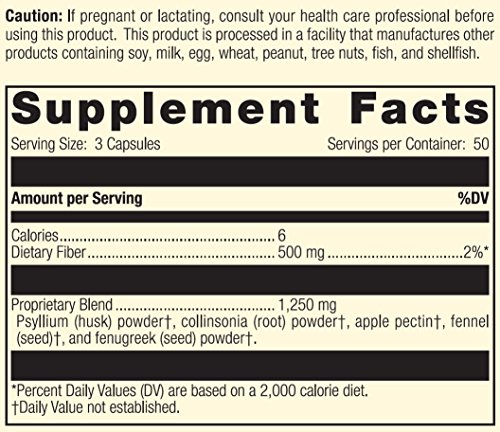 Standard Process - Gastro-Fiber - Dietary Fiber Supplement, Supports Digestive System, Healthy Intestinal Environment, Cleanses Lower GI Tract, Gluten Free and Vegetarian - 150 Capsules by Standard Process (Image #3)