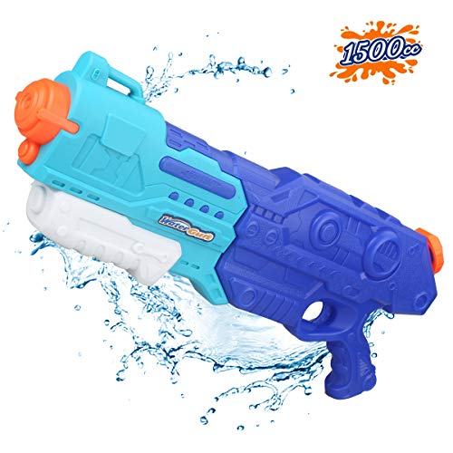 Water Guns Water Blaster Toy High Capacity 1500CC Long Range Squirt Guns Bulk Super Soaker Summer Water Shooter Fighting Games Gun Swimming Pool Beach Party Favors Toy for Boys Girls Adults Kids