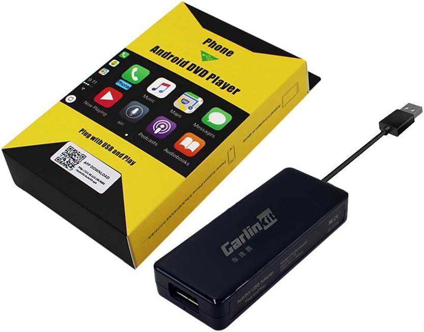 Carlinkit Wired CarPlay Dongle Android Auto para Radio de automóvil con Unidad Principal de Android, instale la aplicación Autokit en el automóvil, no para la Radio de automóvil OEM de fábrica, Negro