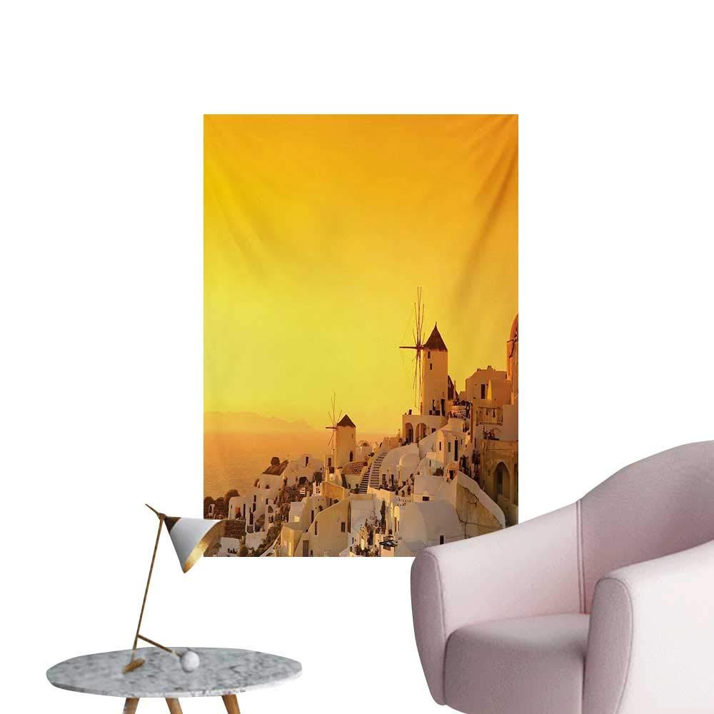 Amazon Com Anzhutwelve Greece Wallpaper Sunset Oia Village