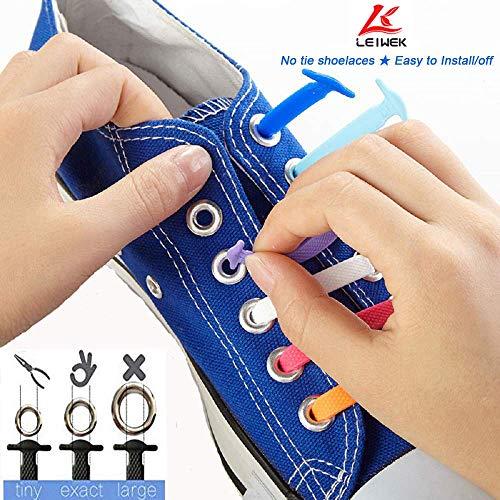 Women Men AOJOYS No Tie Reflective Shoelaces for Kids Elastic Athletic Ru...