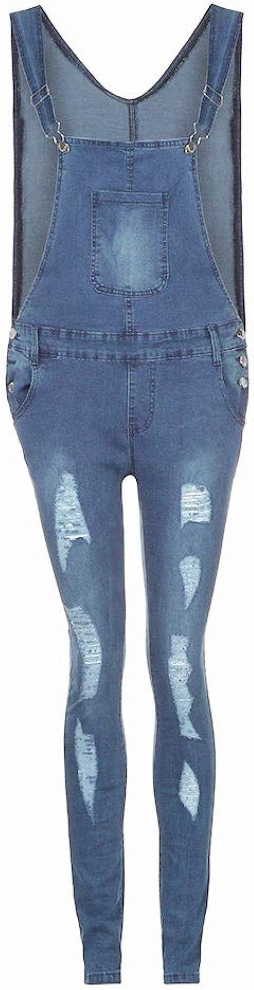 Bohoo Toddler Baby Girls Denim Destroyed Ripped Jeans Dresses Adjustable Straps