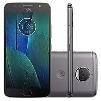 "Smartphone Motorola Moto G5 S Plus Grafite 32GB 5.5"" 4G XT 1805 Câmera 13MP Octa-Core 2.0GHz + Bolsa de Brinde"