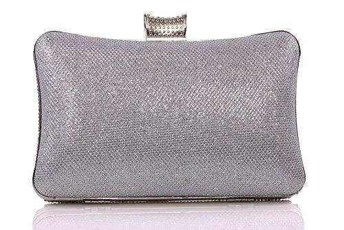 Unze Abendtaschen - Bag2-Silber-N