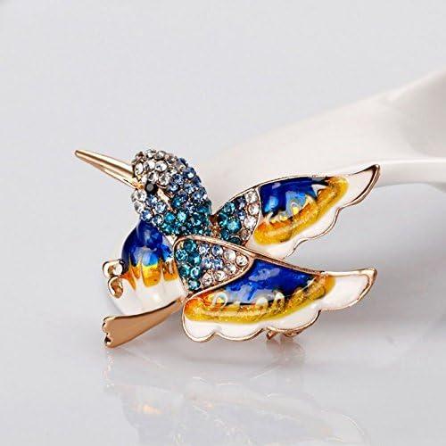 TOPSALE Hermoso Pajaro Colorido Broche Animal Broches para la Boda Decoracion Unisexo Salvaje Moda Animal Azul