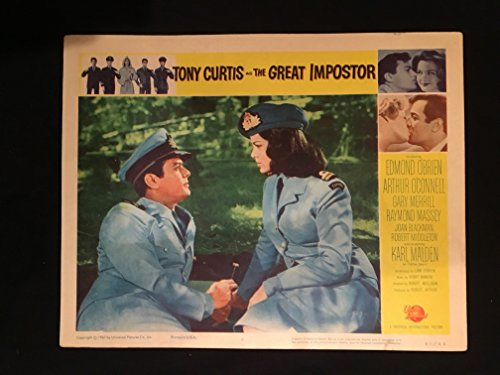 The Great Impostor 1961 Original Vintage Lobby Card Movie Poster, Tony Curtis, Edmond O'Brien