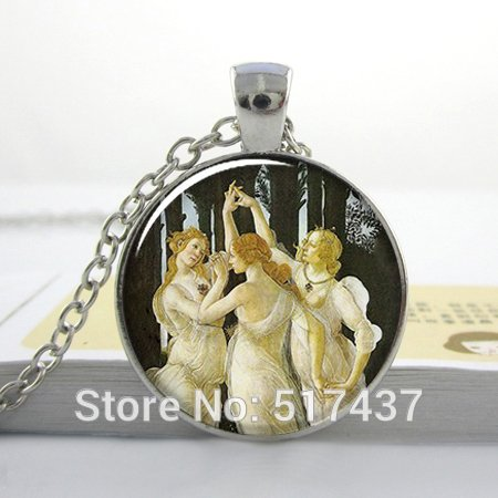 Three Graces Botticelli - Pretty Lee 1Pc O19 Botticelli'S Three Graces Art Pendant Charm Friendship Necklace Resin Pendant Photo Pendant