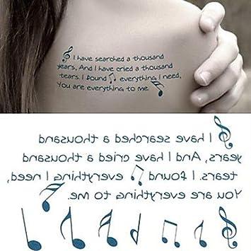 Generic Music Notation Note Symbol Tattoo Stickers Temporary Tattoos
