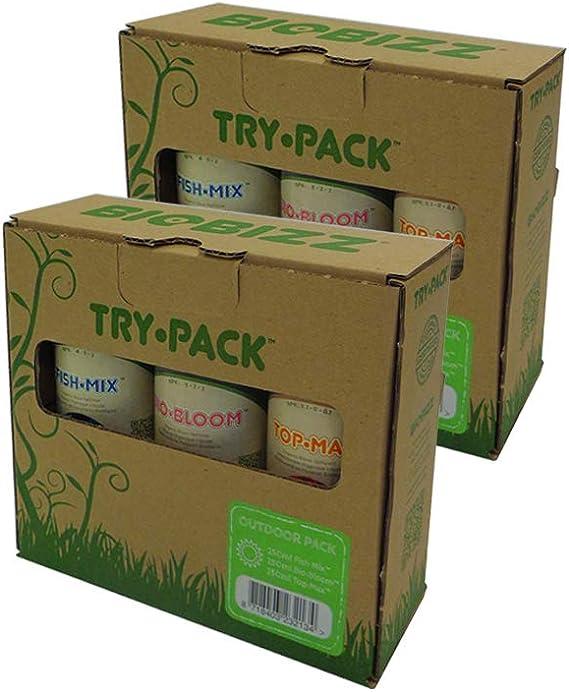 BioBizz Try-Pack Outdoor Mega Pack - Pack de 3 Botes de 500 ml (6 ...