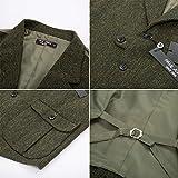 Mens Vintage Herringbone Tweed Vest Notched Collar