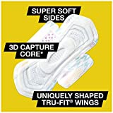 U by Kotex CleanWear Ultra Thin Pads with Wings, Regular, Unscented, 50 Count