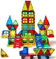 Magblock 120 PCS Magnetic Blocks, Magnetic Tiles Building Blocks for Kids Toys丨Magnet Toys Set 3D Building Blo