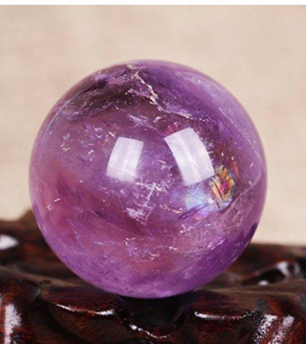 Large Smoky Amethyst Sphere,Dark pruple Sphere,Violet Crystal Ball,Smoky Amethyst crystal Ball177grams50mm#Q440 (Purple Crystal Dark Amethyst)