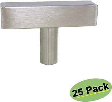 con forma de silbato N/íquel satinado 1,9 cm de di/ámetro Paquete de 25 Basics Pomo de armario