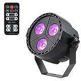 par can led lights - LUNSY 3 LED Par Lights RGB Colorful Multi Lighting Modes Stage Lights