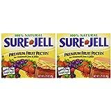 Sure Jell Premium Fruit Pectin For Homemade Jams And Jellies, 100% Natural 1.75 oz (2 Packs)