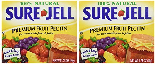 (Sure Jell Premium Fruit Pectin For Homemade Jams And Jellies, 100% Natural 1.75 oz (2 Packs))