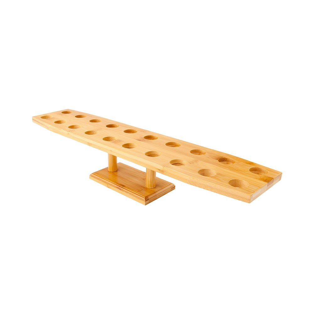 22.5-inch Oblong Food Cone and Sushi Hand Roll Display Stand: Perfect for Restaurants, Catered Events, and Buffets – Holds 20 Cones – Made from Organic Bamboo – 1 Count Box – Restaurantware by Restaurantware