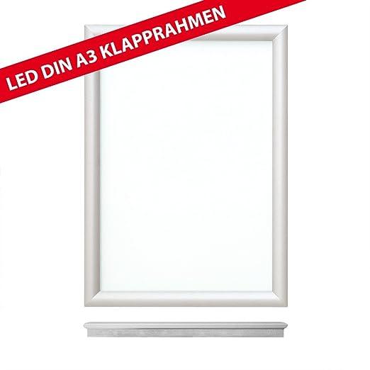 LED Alu plegable marco ultrafina DIN A3 cartel marco de ...