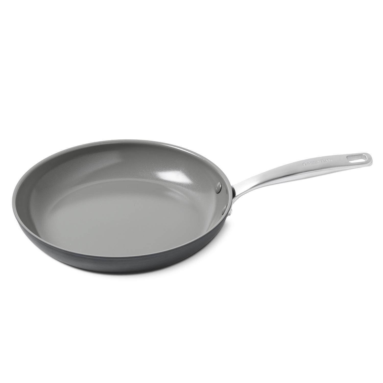 GreenPan Chatham 12'' Ceramic Non-Stick Open Frypan, Grey