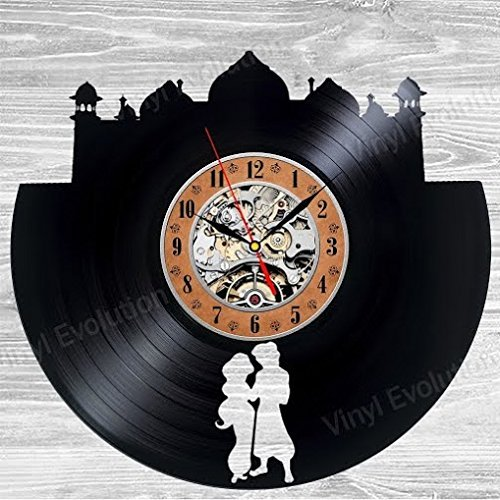 Aladdin Art Vinyl Wall Clock Gift Room Modern Home Record Vintage Decoration