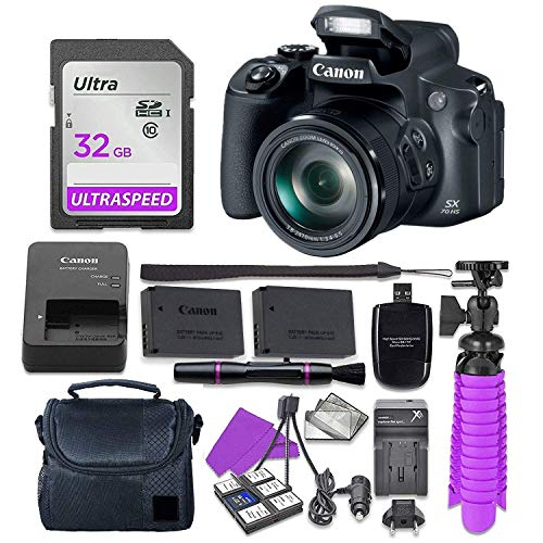 Canon PowerShot SX70 HS 20.3MP 4K Video Digital Camera with 18 Accessories Value Bundle