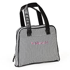 """Cathy's Concepts """"Bridesmaid"""" Striped Cosmetic Bag"""