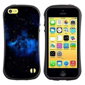 Suave TPU GEL Carcasa Funda Silicona Blando Estuche Caso de protección (para) Apple Iphone 5C / CECELL Phone case / / Blue Galaxy Gas Cloud Stars Universe Space /