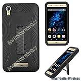 BLU Energy X Plus E030U Heavy Duty Case, Kickstand, Smart Phone Case Many Colors Available (HVD Black)