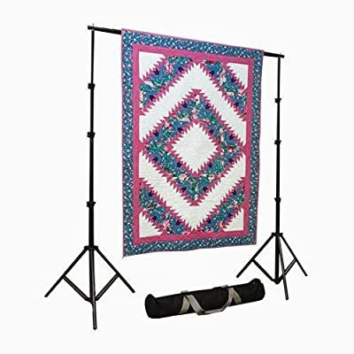 Portable Quilt Display Stand w/ Case 10' x 12' Fully Telescoping, Heavy Duty, Custom Made for Quilts