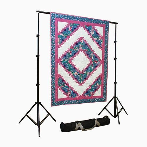 Craftgard Portable Quilt Display Stand w/Case 10' x 12' Fully Telescoping, Heavy Duty, Custom Made for Quilts