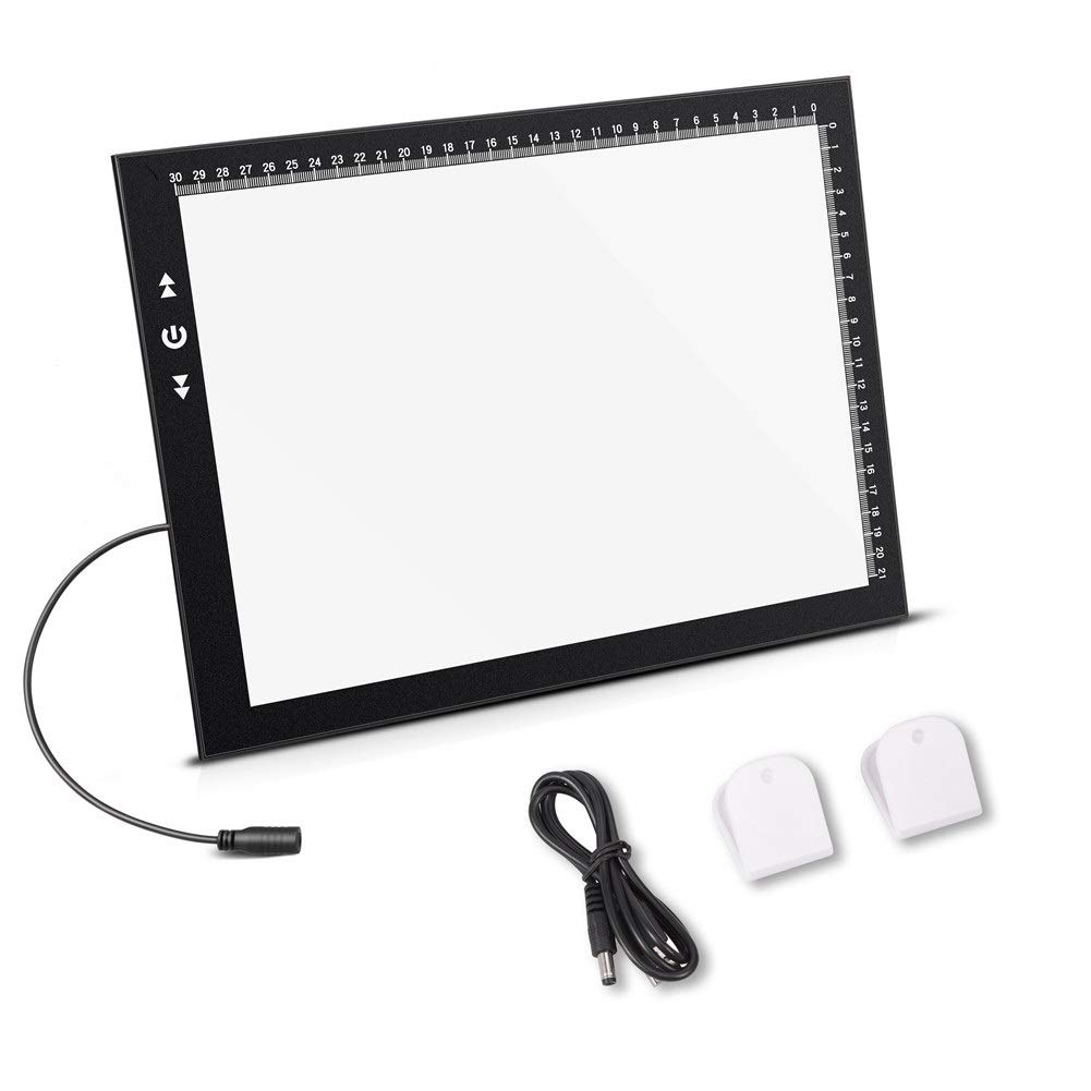 A3 Light Box Light Pad New Improved Frame Structure Design Touch Dimmer 11W Super Bright Max 3000 Lux with Free Carry/Storage Bag 2 Years Warranty (A3 Light pad) QianRui