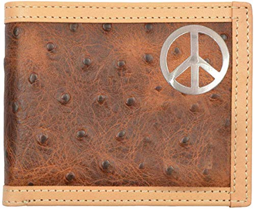Custom Bi Peace Custom Brown Fold Peace Ostrich Print Wallet Sign PpPgrq
